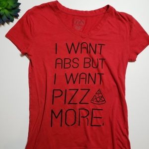 Freeze Pizza Red Short Sleeve Funny T